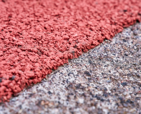 Rood asfalt