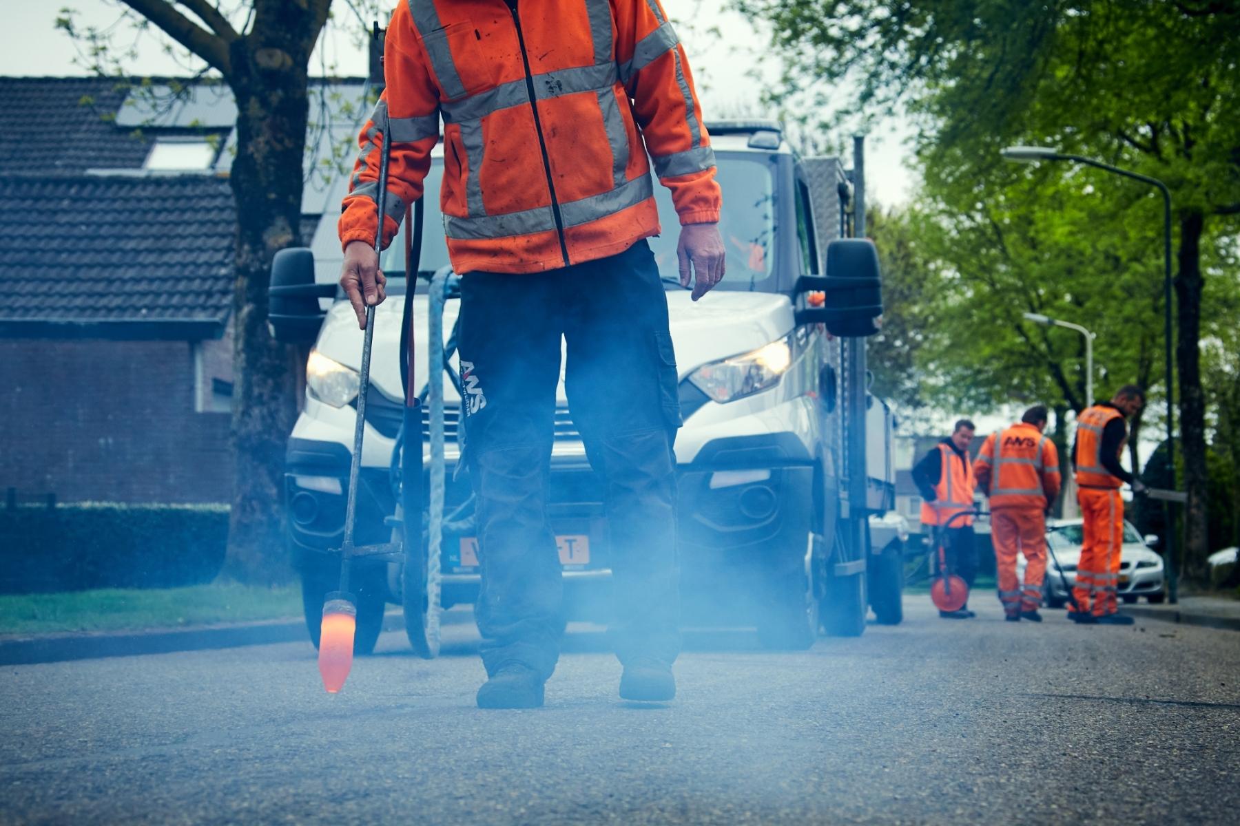 scheurreparatie asfalt