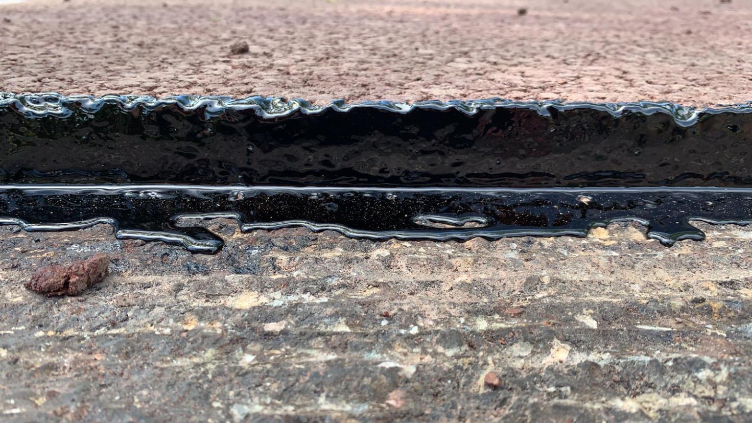 langsnaad asfalt