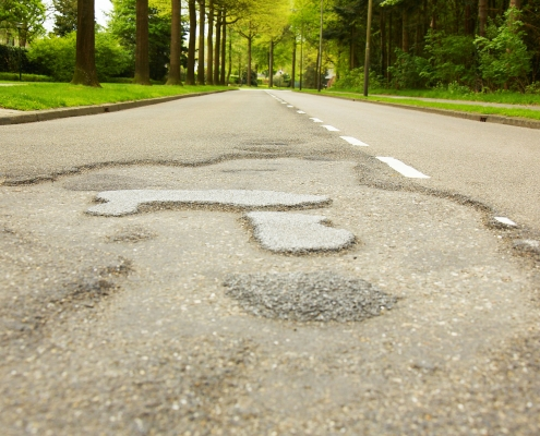 Schade asfalt